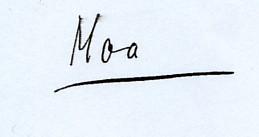 Moa Martinson namnteckning